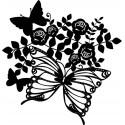 Šablóna Motýle a kvety