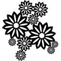 Šablóna Divé kvety