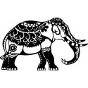 Šablóna Indický slon