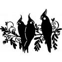 Šablóna Tri vtáčiky