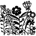 Šablóna Kvetinový záhon