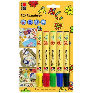 Textil Painter Set, 5x2-4 mm