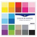 Farebné papiere jednofarebné, 12 listov