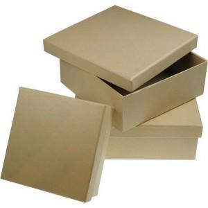 Box štvorcový z kartónu, 12 x 12 cm