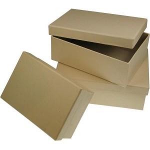 Box štvorcový z kartónu, 16.5 x 11 cm