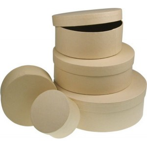 Box okrúhly z kartónu, Ø 14 cm