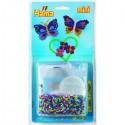 Zažehlovacie korálky - motýliky, 2000 ks + podložka