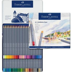 Faber Castell Pastelky Goldfaber Aqua, 48 ks