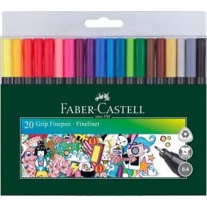 Faber Castell Popisovače Grip Finepen, 20 ks
