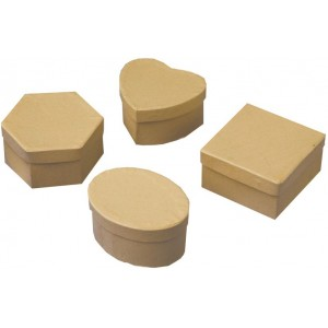 Papierové krabičky, 12 ks