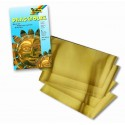 Razbová fólia zlatá, 3 ks