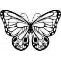 Šablóna Romantický motýľ