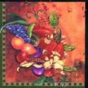 Ovocie, 33 x 33 cm, 16 ks