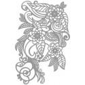 Šablóna Zen spleť kvetov a listov, A4