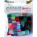 Mozaikové kamienky lesklé, 190 ks, 10 x 10 mm